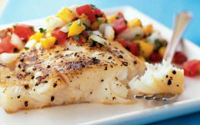 Grilled Halibut and Fresh Mango Salsa Recipe