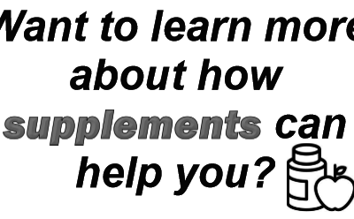 Learn about how supplements may help you!