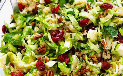 Brussel Sprouts, Cranberry and Quinoa Salad Recipe