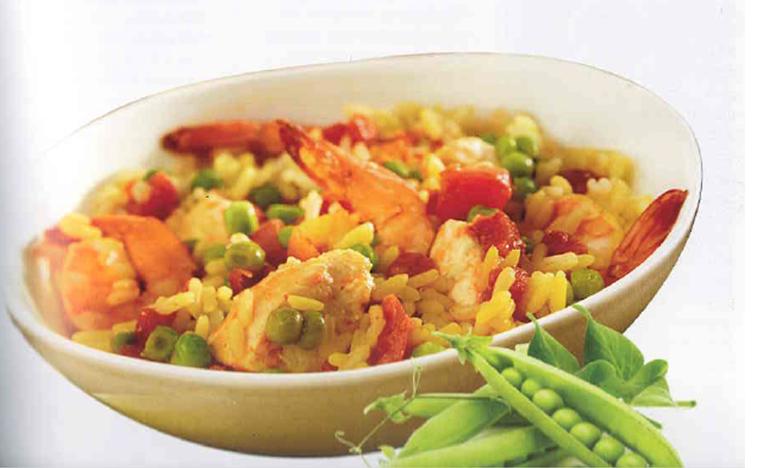 Shrimp and Chicken Paella Recipe